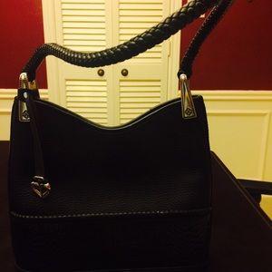 Black Brighton leather handbag-NWT